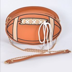 "NWT🏈 FOOTBALL CLUTCH ""RIGHT ON TIME FOR SUPERBOWL"